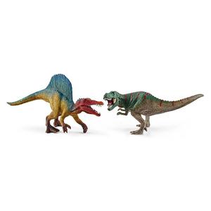 Set figurine SCHLEICH Spinosaurus si T-Rex SL41455, 3 ani+, multicolor