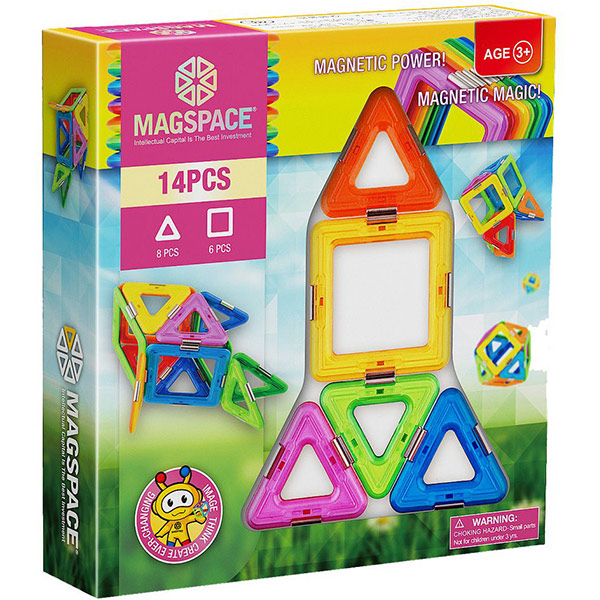 Joc constructie magnetic MAGSPACE Magic Power, 3 ani +, 14 piese