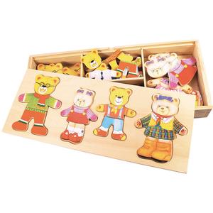 Joc de potrivire BIGJIGS Familia ursuletilor BJ766, 3 - 6 ani, multicolor
