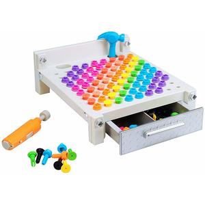Joc EDUCATIONAL INSIGHTS Bormasina Magica Primul meu banc de lucru EI4171, 3 - 5 ani, 123 piese, multicolor