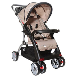 Carucior cu maner reversibil JUJU I Love My Parents JU4098-BROWN, 0luni+, bej -maro