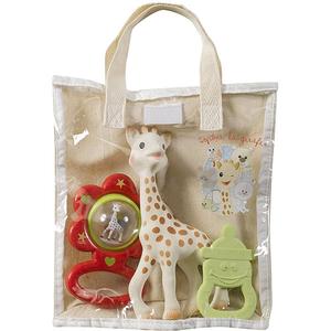 Set cadou jucarii dentitie VULLI Girafa Sophie, 0 luni+, multicolor