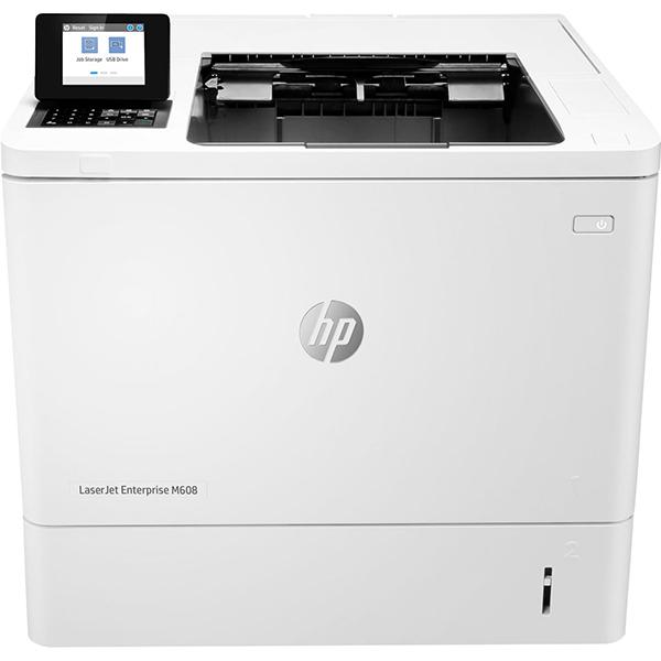 Imprimanta laser monocrom HP LaserJet Enterprise M608dn, A4, USB, Retea
