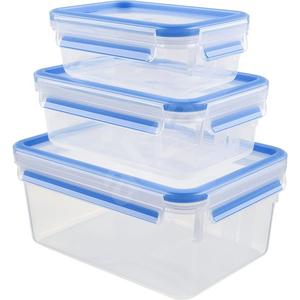 Set caserole TEFAL K3028912, 3 piese, 0.55 - 2.3l, plastic, transparent