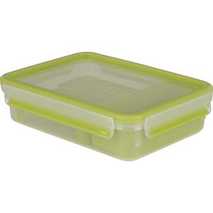 Caserola pentru desert compartimentata TEFAL Clip&Go K3100312, 1.2l, plastic, verde