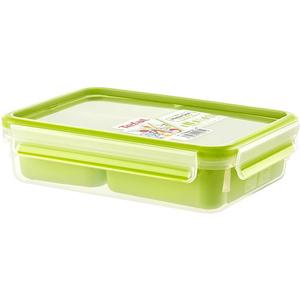 Caserola compartimentata TEFAL Clip&Go K3100412, 1.2l, plastic, verde