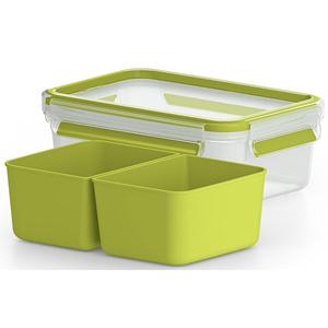 Caserola compartimentata TEFAL Clip&Go K3100512, 1l, plastic, verde