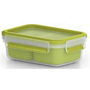 Caserola compartimentata TEFAL Clip&Go K3100612, 0.55l, plastic, verde