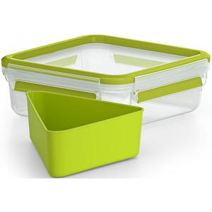 Caserola pentru sandwich compartimentata TEFAL Clip&Go K3100812, 0.8l, plastic, verde