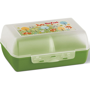 Caserola pentru copii compartimentata TEFAL Variabolo Vulpe K3160414, plastic, multicolor