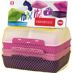 Set caserole pentru copii TEFAL Variabolo K3169014, 2 piese, plastic, multicolor