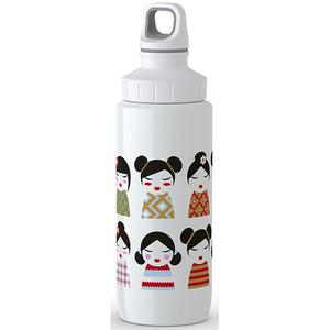 Sticla termos pentru copii TEFAL Licht Steel Geisha K3194612, 0.6l, inox, alb