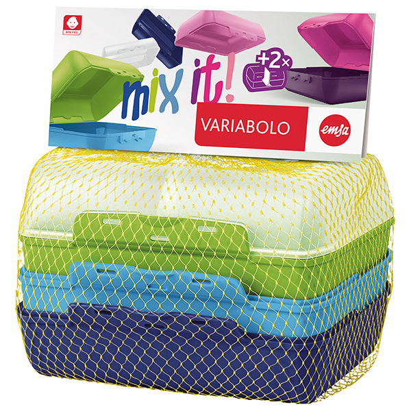 Set caserole pentru copii TEFAL Variabolo K3168914, 2 piese, plastic, multicolor