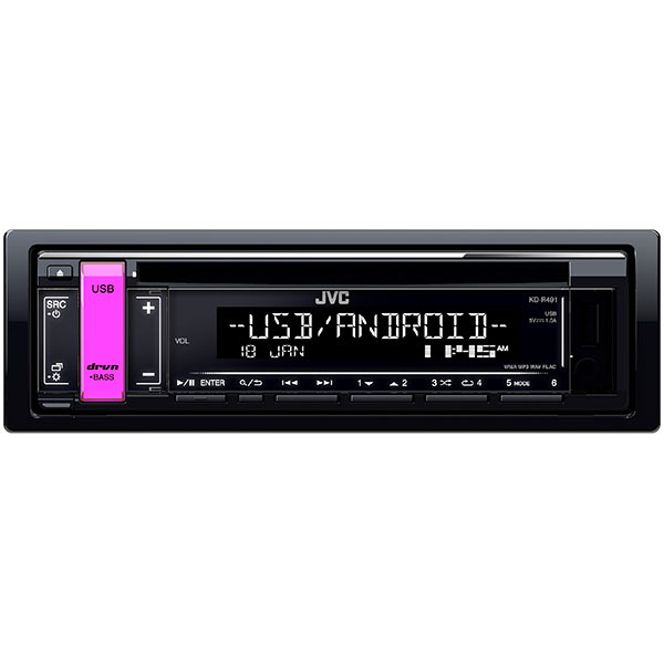 CD player auto JVC KD-R491, 4 x 50W, CD, USB
