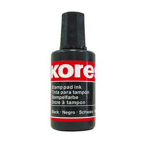 Tus stampila KORES, 27 ml, negru
