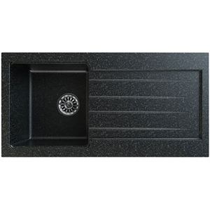 Chiuveta bucatarie GORENJE KVE KM1, 1 cuva, picurator reversibil, compozit, negru