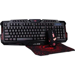 Kit Gaming 3 in 1 MARVO CM350, tastatura, mouse, mousepad, negru