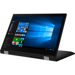 "Laptop LENOVO ThinkPad L390 Yoga, Intel Core i7-8565U pana la 4.6GHz, 13.3"" Full HD Touch, 8GB, SSD 256GB, Intel UHD Graphics 620, Windows 10 Pro, Negru"