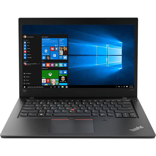 "Laptop LENOVO ThinkPad L480, Intel Core i5-8250U pana la 3.4GHz, 14"" Full HD, 8GB, SSD 256GB, Intel UHD Graphics 620, Windows 10 Pro, Negru"