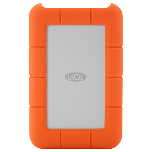 Hard Disk Drive portabil LACIE Rugged STEV2000400, 2TB, Thunderbolt, USB 3.0, argintiu-orange