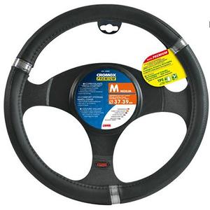 Husa volan auto LAMPA Cromox Premium LAM33065, negru