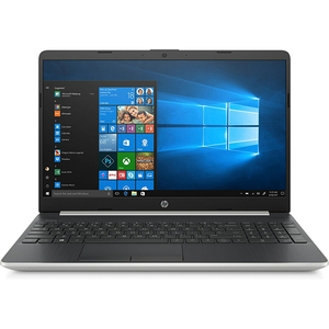 "Laptop HP 15-dw0020nq, Intel Core i3-8145U pana la 3.9GHz, 15.6"" Full HD, 8GB, SSD 256GB, Intel UHD Graphics 620, Windows 10 Home, argintiu"