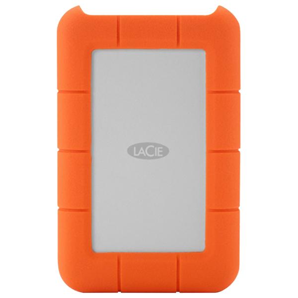 Hard Disk Drive portabil LACIE Rugged STEV2000400, 2TB, Thunderbolt, USB 3.0, argintiu-orange
