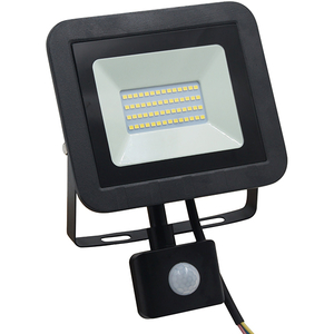 Proiector LED cu senzor de miscare WELL LEDFN-SPARKLE30BKPIR-WL, 30W, 2400 lumeni, IP65, negru