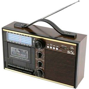 Radio wireless cu casetofon SAL RRT 11B, AM/FM, 11 benzi, MP3, Bluetooth, negru