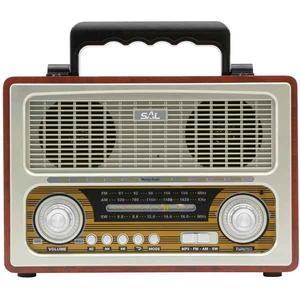 Radio wireless retro SAL RRT 3B, AM/FM, 3 benzi, MP3, Bluetooth, negru