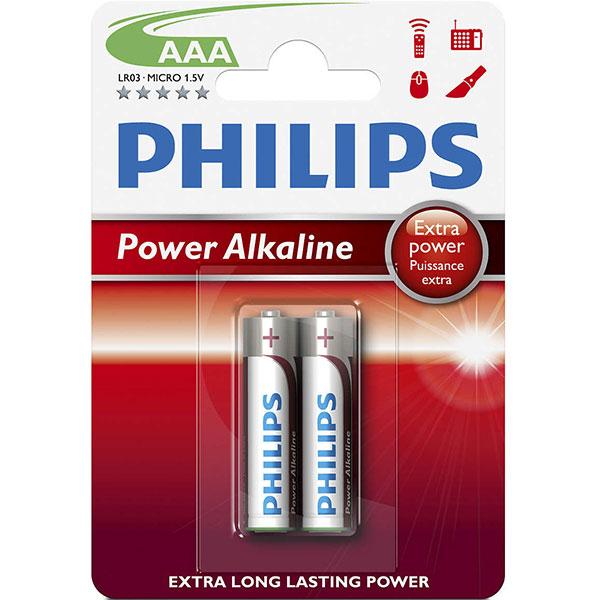Baterie alcalina PHILIPS LR03, AAA, 2 bucati
