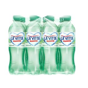 Apa minerala naturala carbogazificata LA VITTA, 0.5L, bax, 12 sticle