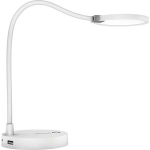 Lampa de birou PROMATE LUMIFLEX2, USB, 4000mAh, alb