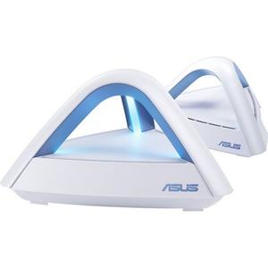Sistem Wireless Mesh ASUS Lyra Trio AC1750, Dual Band 450 + 1300 Mbps, 2 Buc, alb