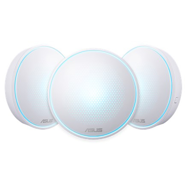 Sistem Wireless Mesh ASUS Lyra Mini AC1300, Dual Band 400 + 867 Mbps, 3 Buc, alb