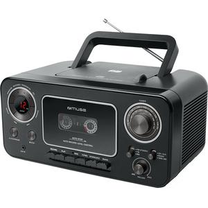 Radio CD portabil MUSE M-182 RDC, Bluetooth, FM/MW, negru