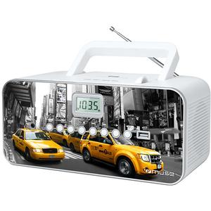 Radio CD portabil MUSE M-28 NY, CD, USB, FM/MW, alb