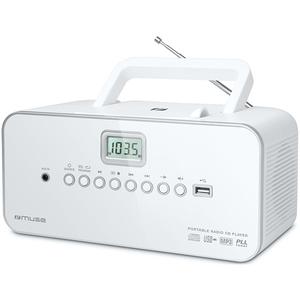 Radio CD portabil MUSE M-28 RDW, CD, USB, FM/MW, alb