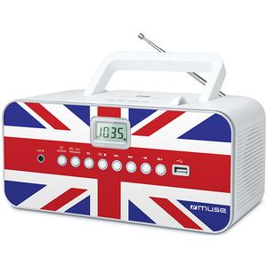 Radio CD portabil MUSE M-28 UK, CD, USB, FM/MW, alb