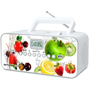 Radio CD portabil MUSE M-28 VF, CD, USB, FM/MW, alb