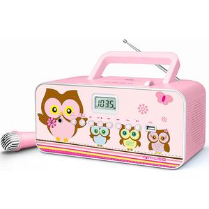 Radio CD portabil MUSE M-29 KP, CD, USB, Microfon, FM/MW, roz