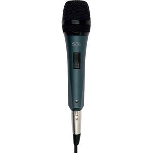Microfon de mana cu fir SAL M 8, Jack 6.3, negru-argintiu