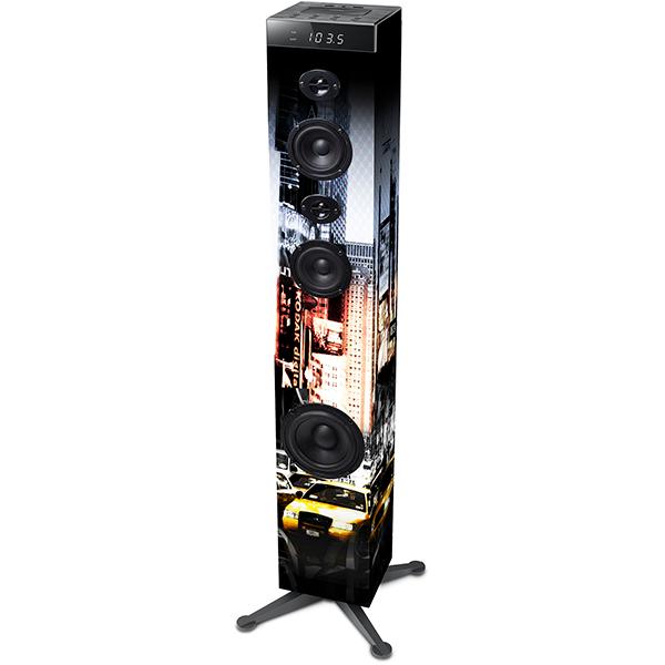 Boxa de podea MUSE TOWER M-1280 NY, bluetooth, radio, USB, NFC, negru