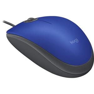 Mouse cu fir LOGITECH M110 Silent, 1000 dpi, albastru