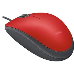 Mouse cu fir LOGITECH M110 Silent, 1000 dpi, rosu
