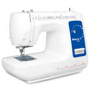 Masina de cusut MINERVA M926, 800 imp/min, 85W, 29 programe, alb-albastru