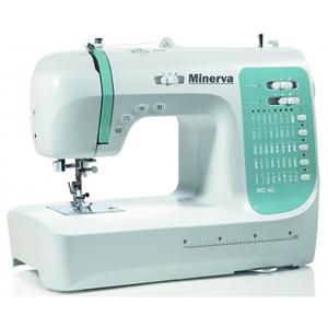 Masina de cusut MINERVA MC40, 800 imp/min, 40 programe, 70W, alb-albastru