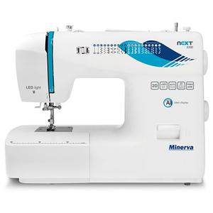 Masina de cusut MINERVA NEXT232D, 23 programe, 850 imp/min, alb-albastru