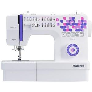 Masina de cusut MINERVA Select65, 33 programe, 850 imp/min, alb-mov