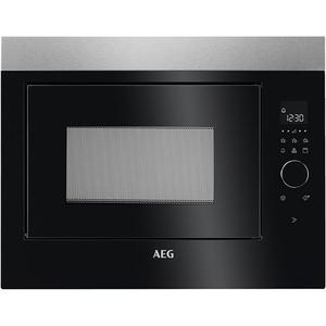 Cuptor cu microunde incorporabil AEG MBE2658DEM, 25l, 900W, Grill, negru-inox